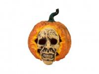 EUROPALMS Halloween Totenkopf-Kürbis, 26cm