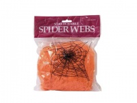 EUROPALMS Halloween Spinnennetz orange 100g UV-aktiv