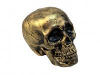 EUROPALMS Halloween Totenkopf, gold