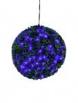 EUROPALMS Buchsbaumkugel mit lila LEDs, 40cm