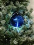 EUROPALMS LED Snowball 8cm, dunkelblau 5x