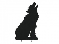 EUROPALMS Silhouette Wolf, 63cm