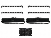 EUROLITE Set 4x LED BAR-12 QCL RGBA + 2x Soft Bag + Controller