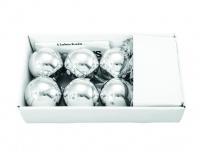 EUROPALMS LED Weihnachtskugel 6cm, silber 6x