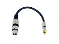 OMNITRONIC Adapterkabel XLR(F)/Cinch(M) 0, 2m sw