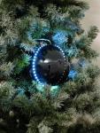 EUROPALMS LED Snowball 8cm, schwarz 5x