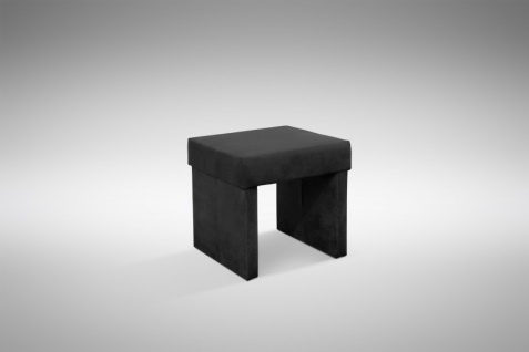 Design Hocker Kunstleder modern in schwarz - Otto