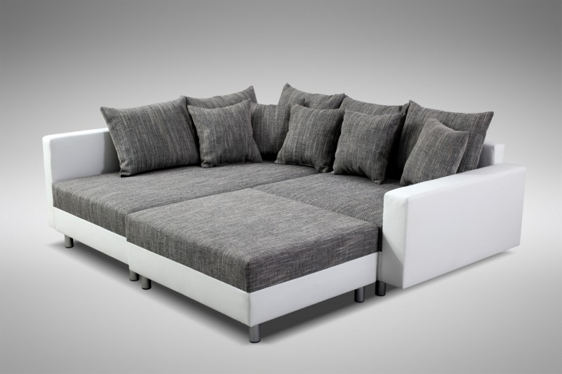modernes sofa couch ecksofa eckcouch in weiss eckcouch mit hocker minsk l kaufen bei kuechen. Black Bedroom Furniture Sets. Home Design Ideas