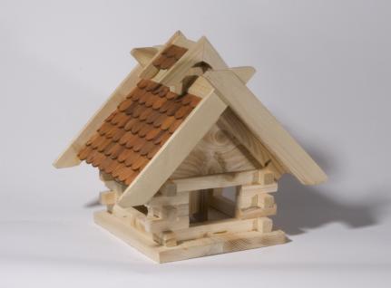"""Holzwaren Wasmer / Vogelfutterhaus """"Blockhaus"""" - Vorschau 2"""