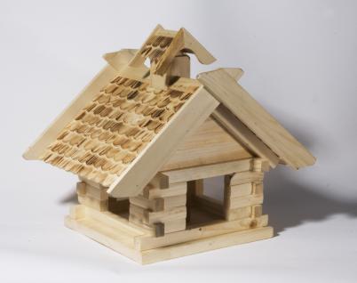 """Holzwaren Wasmer / Vogelfutterhaus """"Blockhaus"""" - Vorschau 3"""