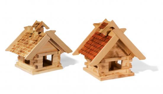 """Holzwaren Wasmer / Vogelfutterhaus """"Blockhaus"""" - Vorschau 1"""