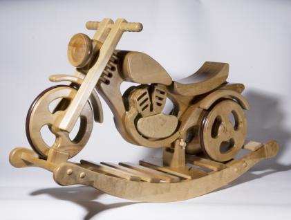 Holzwaren Wasmer Schaukelmotorrad Rad - Vorschau 2