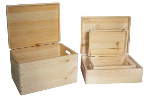 Holzwaren Wasmer Stapelkiste mit Deckel - Vorschau