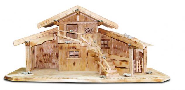 "Holzwaren Wasmer Krippenstall ""Treppe"" groß"