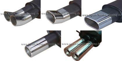 Endschalldämpfer Stahl Opel Calibra Bj. 90-97 - Vorschau 3