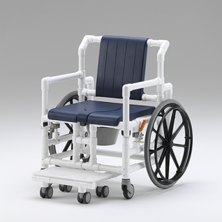 XL 175 kg Duschrollstuhl Toiletten-Rollstuhl Transportstuhl Profi-Duschstuhl