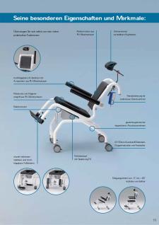 Elektrischer Duschtoilettenstuhl kippbar Parkinson Profi-Duschstuhl - Vorschau 5