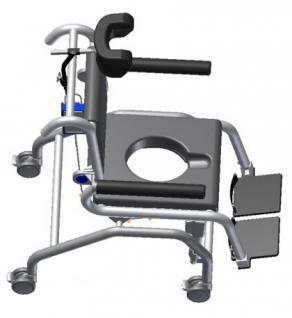 Elektrischer Duschtoilettenstuhl kippbar Parkinson Profi-Duschstuhl - Vorschau 3