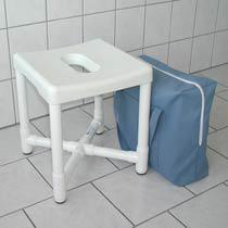 Duschhocker zerlegbar Polster Tasche