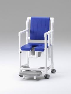 Standsicherer Wohlfühlstuhl bei Demenz oder Amyotrophe Lateralsklerose Multiple Sklerose Toilettenstuhl Profi-Duschstuhl