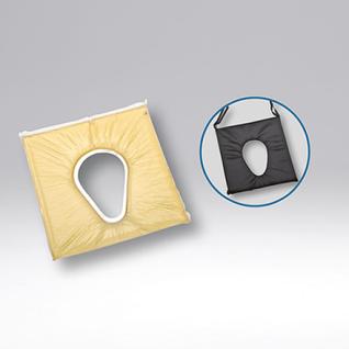Duschstuhl Fussstütze anklippbar Toilettenstuhl faltbar Profi-Toilettenstuhl - Vorschau 3