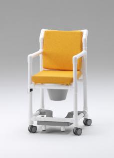 Komfort-Toilettenstuhl 150 kg Zimmerstuhl Toilettensitzerhöhung Transportstuhl Nachtstuhl Duschstuhl mit Rollen Profi