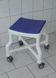Duschhocker 150 kg grosse Sitzfläche gepolstert Rückenlehne - Vorschau 5