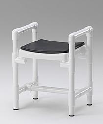 Duschhocker 150 kg grosse Sitzfläche gepolstert Rückenlehne - Vorschau 3