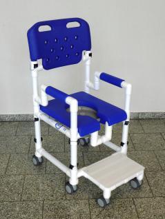Duschstuhl Fussstütze anklippbar Toilettenstuhl faltbar Profi-Toilettenstuhl - Vorschau 2