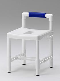 Duschhocker 150 kg grosse Sitzfläche gepolstert Rückenlehne