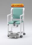 Demenzstuhl mit körperwarmer Polsterung Toilettenstuhl Toilettensitzerhöhung Profi-Duschstuhl