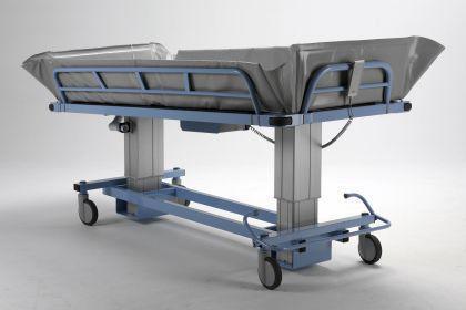 Duschwagen 190 cm optimierte ÜBERFAHRBARKEIT hydraulisch Duschliege Transportliege - Vorschau 5