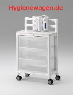 Stationswagen Pflegewagen transparent Hygiene RCN - Vorschau 2