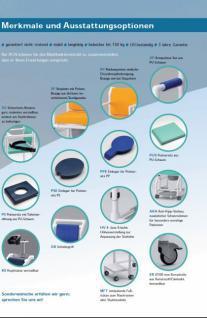 Dusch-Toilettenstuhl aus der Pflege Toilettensitzerhöhung Nachtstuhl 150 kg - Vorschau 4