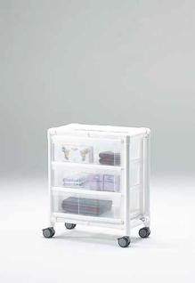 Stationswagen Pflegewagen transparent Hygiene RCN - Vorschau 1