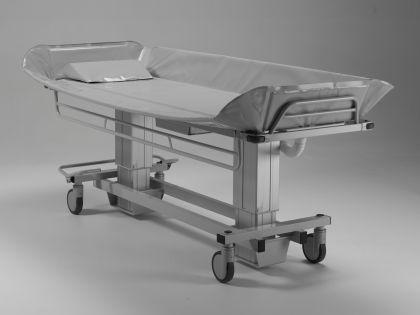 XL Duschwagen 270 kg kippbar elektrisch Duschliege höhenverstellbar - Vorschau 3