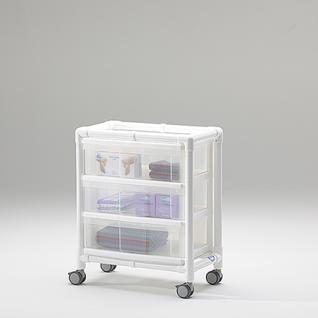 Stationswagen Pflegewagen transparent Hygiene RCN