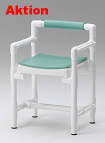 Duschstuhl WC-Stuhl 150 kg standsicher, Toilettensitzerhöhung mit Armlehnen Profi - Vorschau 3