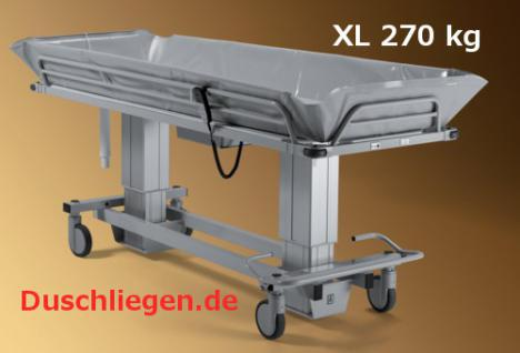 XXL Duschwagen 450 kg kippbar elektrisch Duschliege Transportliege - Vorschau 5