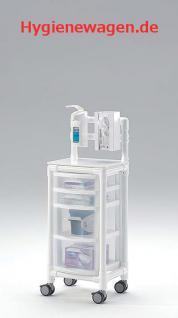 Stationswagen Pflegewagen transparent Hygiene RCN - Vorschau 3