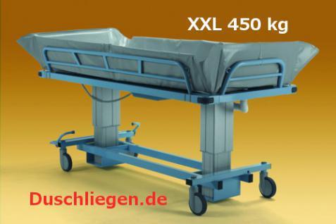 XL Duschwagen 270 kg kippbar elektrisch Duschliege höhenverstellbar - Vorschau 5