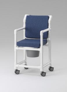 Komfort-Toilettenstuhl 150 kg Zimmerstuhl Toilettensitzerhöhung Transportstuhl Nachtstuhl Duschstuhl mit Rollen Profi - Vorschau 3