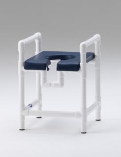 Duschstuhl WC-Stuhl 150 kg standsicher, Toilettensitzerhöhung mit Armlehnen Profi