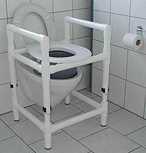 Weiches Gel-Sitzkissen für Toilettenbrille Profi-Toilettenstuhl - Vorschau 3