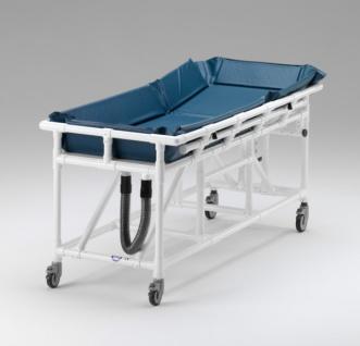 Duschwagen Rückenhöhe verstellbar Duschliege Transportliege Wachkoma - Vorschau 2