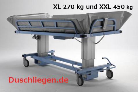 Duschwagen 190 cm optimierte ÜBERFAHRBARKEIT hydraulisch Duschliege Transportliege - Vorschau 3