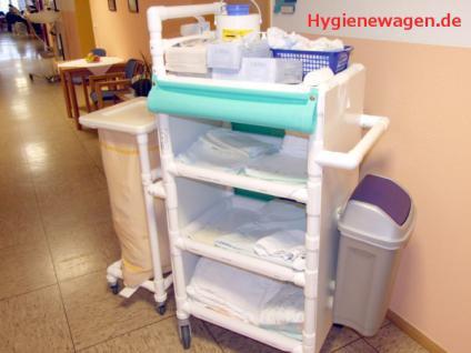 Rostfreie Wäschewagen Wäschesammler Hotel Bäder 3 Jahre Garantie - Vorschau 1