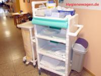 Rostfreie Wäschewagen Wäschesammler Hotel Bäder 3 Jahre Garantie