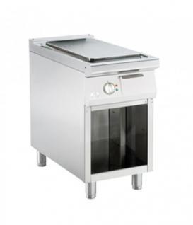 Bartscher Gas-Griddleplatte mit Stahlplatte, glatt mit offenem Unterbau 450x900x850-900 - Vorschau