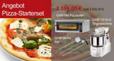 GAM Pizza-Starterset - Pizzaofen, Teigmaschine und Set für Pizzaofen